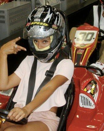 Beyoncé y Jay Z en carrera de kartings