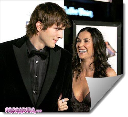 Demi Moore y Ashton Kutcher separados